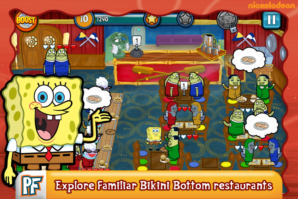 Play Free Spongebob Diner Dash Game